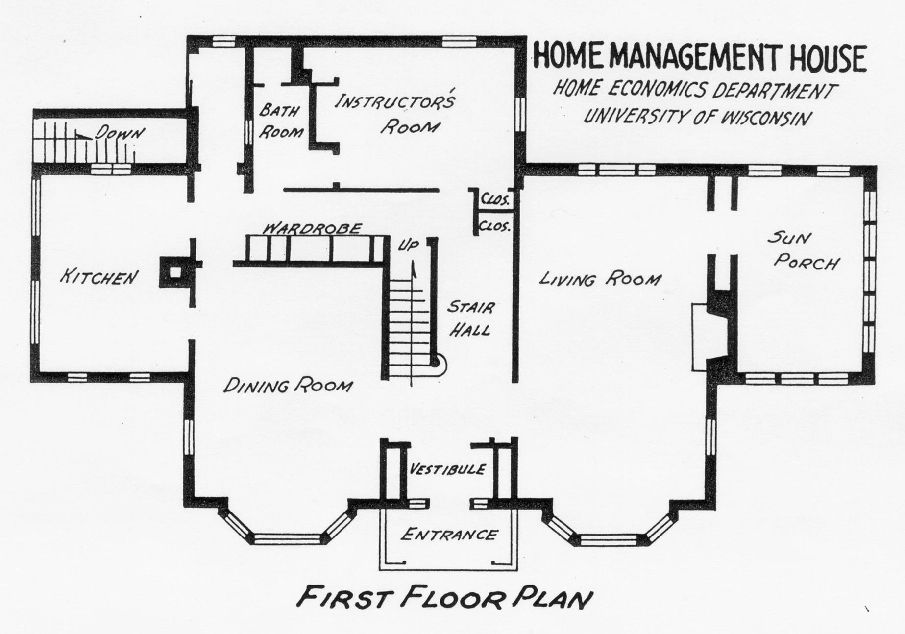 Home Management House 1940 floor plans
