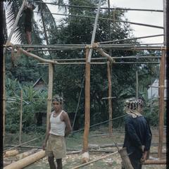 Kammu (Khmu') coolies building house