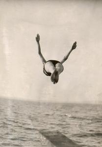 Diving into Lake Mendota