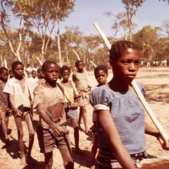 Marching Child Recruits in the Popular Resistance Movement for the Liberation of Angola