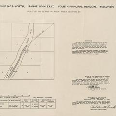 [Public Land Survey System map: Wisconsin Township 06 North, Range 14 East]