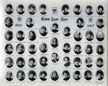 Gamma Sigma Sigma sorority members and adviser headshots