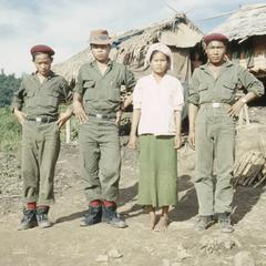Ethnic Khmu' soldiers and young woman