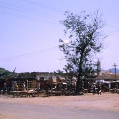Shed outside marketplace