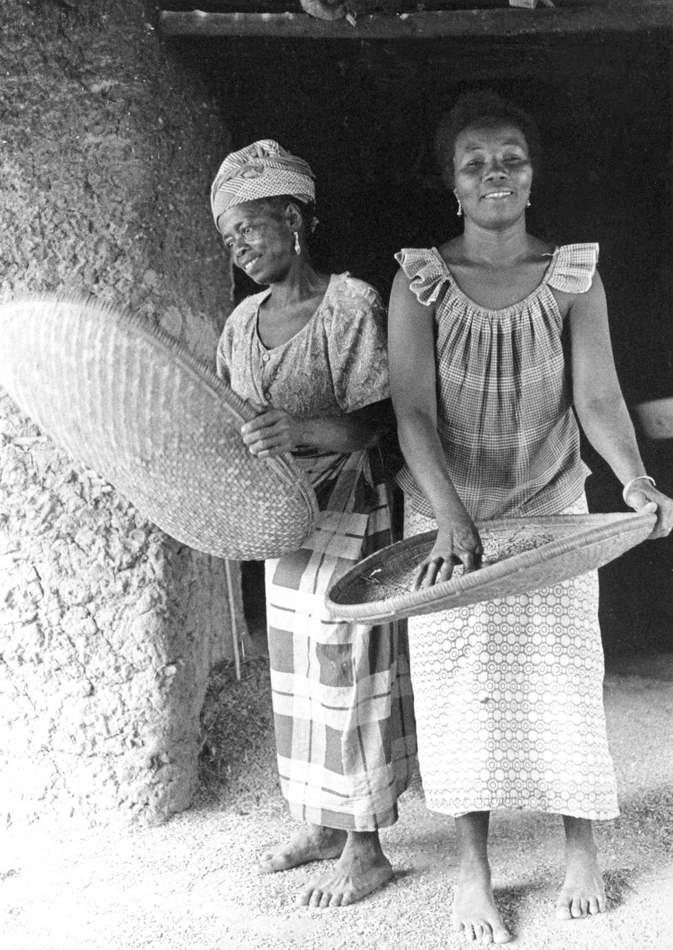Women Winnowing Rice