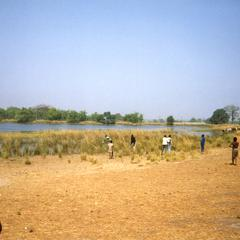 People near crocodile ponds