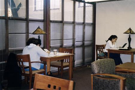 Students doing schoolwork in 2004