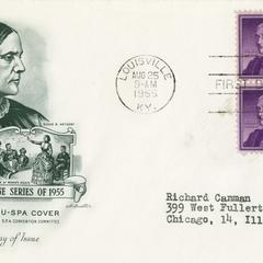Susan B. Anthony, champion of woman's rights envelope