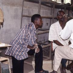 Agbo Folarin teaching students in studio