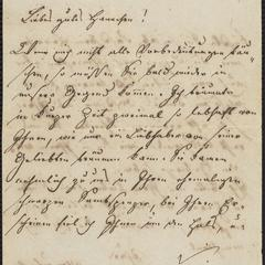 [Letter to Hannchen, ca. 1851]