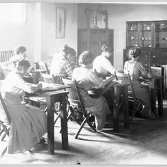 Students in a design class
