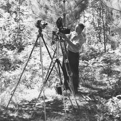 Photographer Dean Tvedt in field