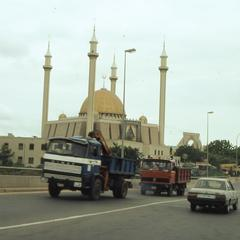 Road view of Mosque