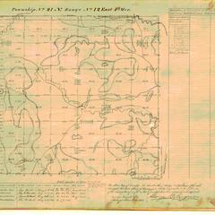 [Public Land Survey System map: Wisconsin Township 21 North, Range 12 East]
