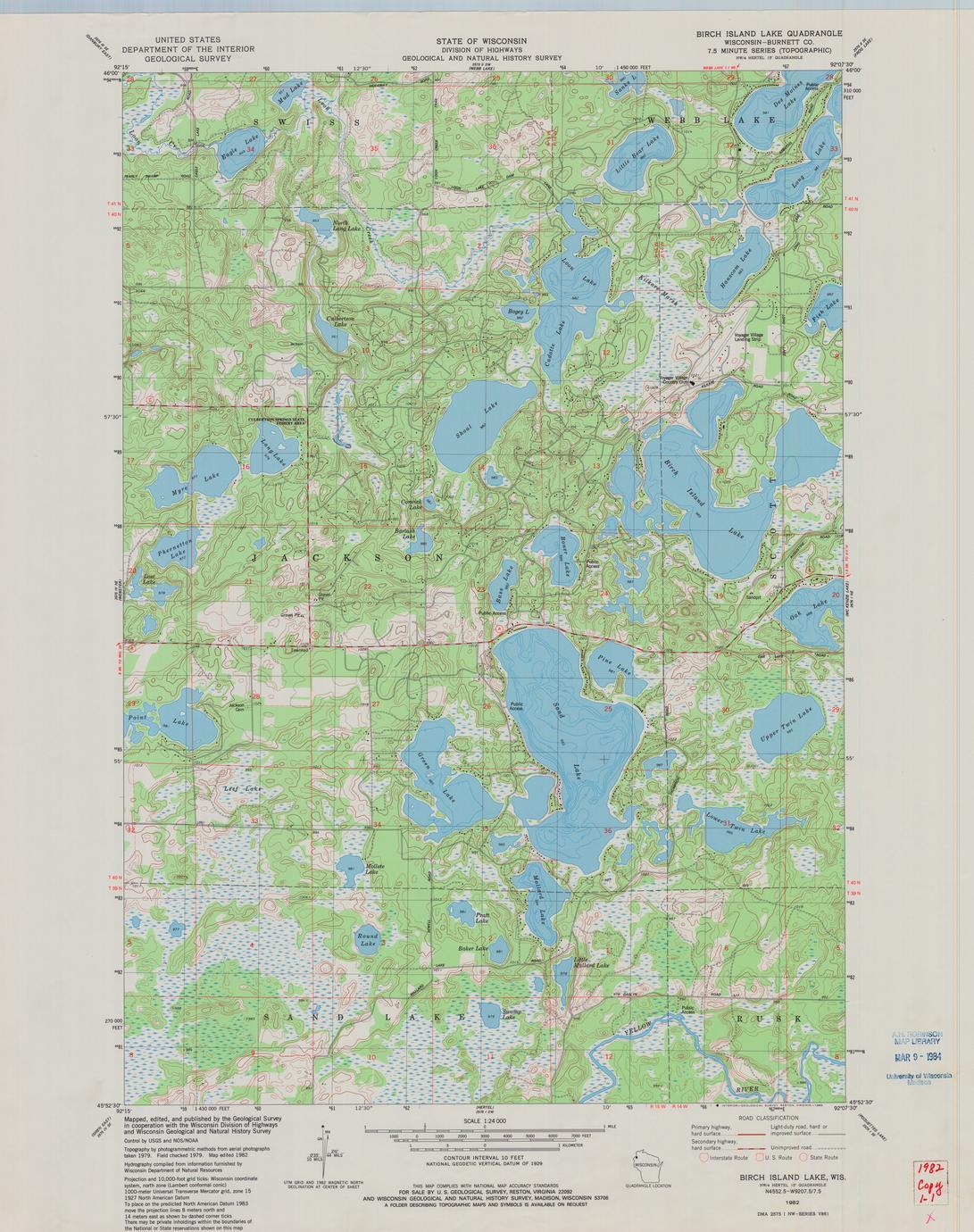 Birch Island Lake quadrangle