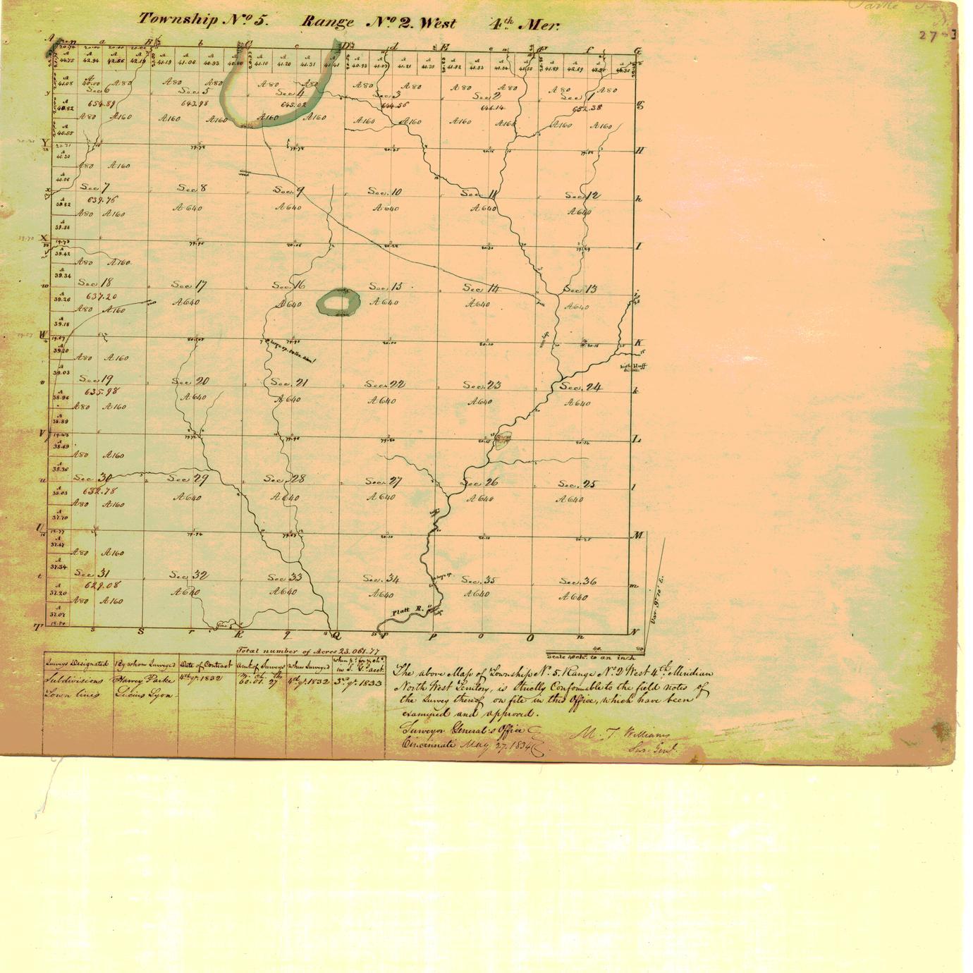 [Public Land Survey System map: Wisconsin Township 05 North, Range 02 West]