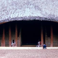 Close-up of Royal Tombs in Kampala