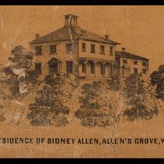 Residence of Sidney Allen, Allen's Grove, Wis.