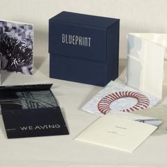 Blueprint : a portfolio exchange of folded prints : duplicates, mapping, informations, plans, schemes, patterns, charts, systems