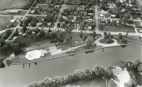 Aerial view of Omro