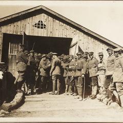Gefangene Italiener i. Kartitsch i. Südtirol 1915