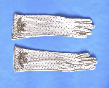 Stretchy cotton gloves