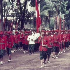 Ceremony honoring the King of Laos