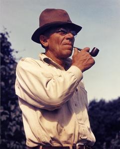 Aldo Leopold with pipe