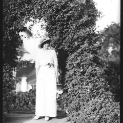 Margaret in grounds of Titchfield Hotel