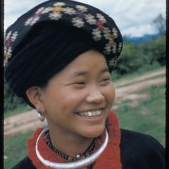 Yao woman's head--detail
