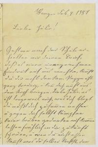 [Letter from Franziska Sternberger to her daughter, Julia, February 4, 1887]