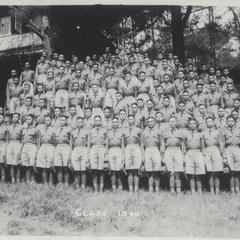 Class of 1940 in drill uniform, Philippine Military Academy, Baguio