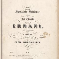 Fantaisie brillante pour le piano sur Ernani