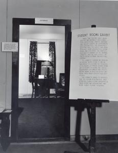 Student rooms exhibit