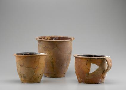 Crocks and handled pot