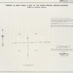 [Public Land Survey System map: Wisconsin Township 35 North, Range 12 East]
