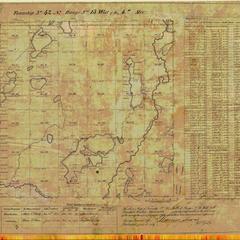[Public Land Survey System map: Wisconsin Township 42 North, Range 13 West]