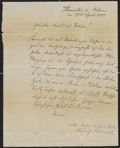 [Letter from Rudolf Schimbke, April 29, 1848]