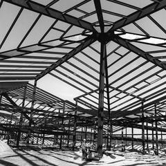 Nielsen Tennis Stadium construction