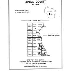 Juneau County, Wisconsin, land cover maps