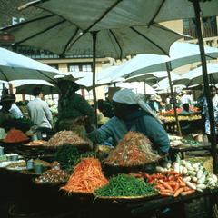 Bins of Vegetables for Sale in Zoma Market in Tananarive