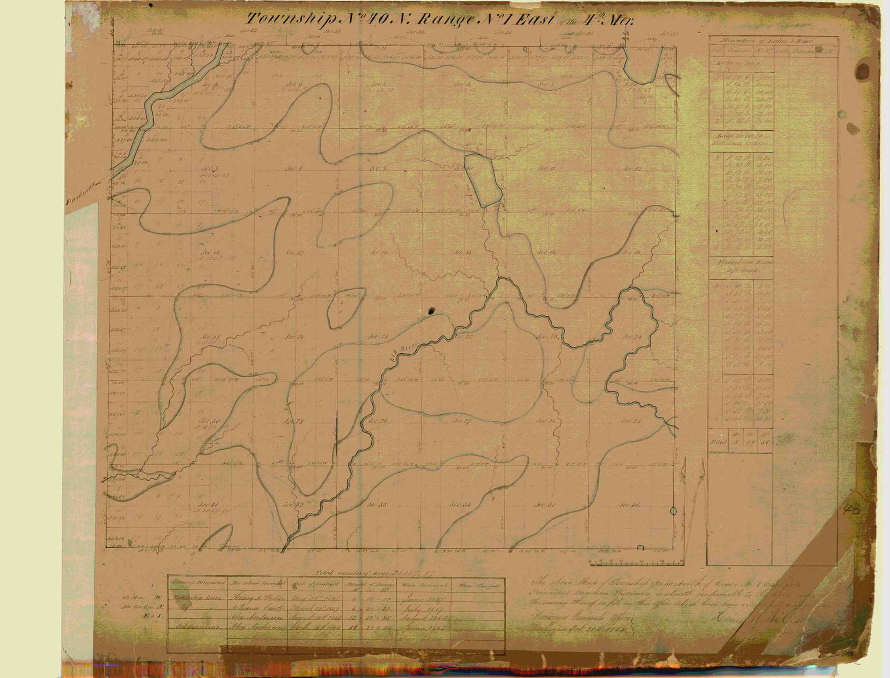 [Public Land Survey System map: Wisconsin Township 40 North, Range 01 East]
