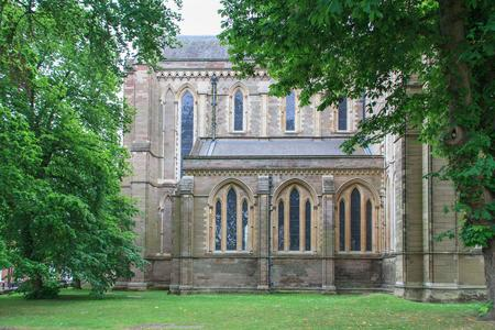 Worcester Cathedral exterior Lady Chapel north side