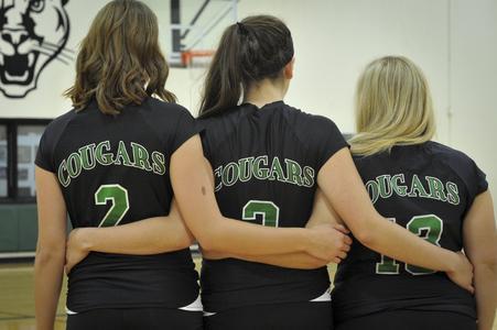 2014-15 women's volleyball teammates