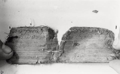 Palm leaf writings given to the Nyaheun by King Chao Anou