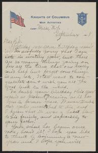 [Letter from Kurt Ruedebusch to Pep Husting, September 4, 1918]