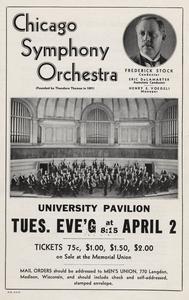 Chicago Symphony Orchestra at the University Stock Pavilion poster