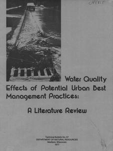 Water quality effects of potential urban best management practices : a literature review
