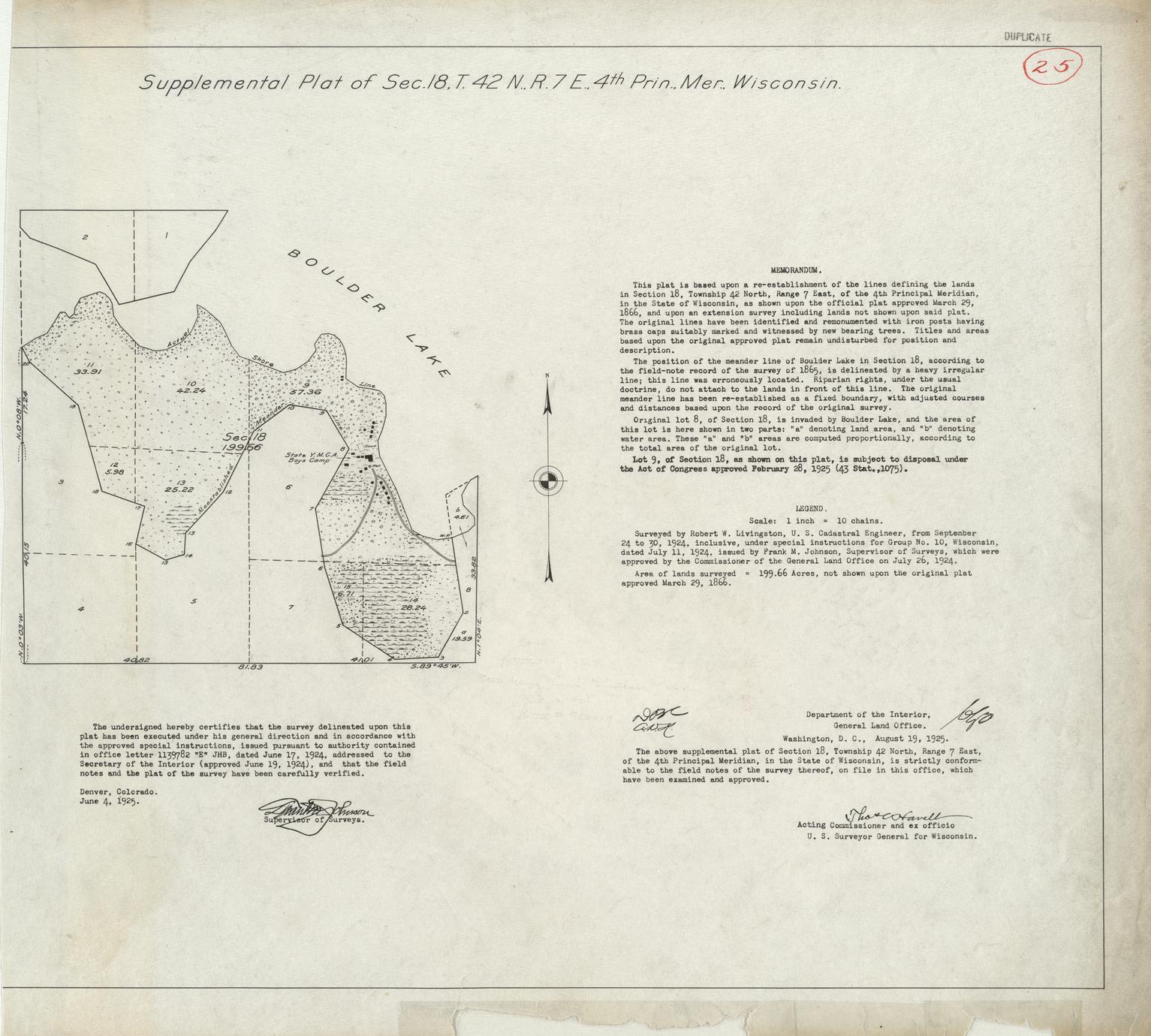 [Public Land Survey System map: Wisconsin Township 42 North, Range 07 East]