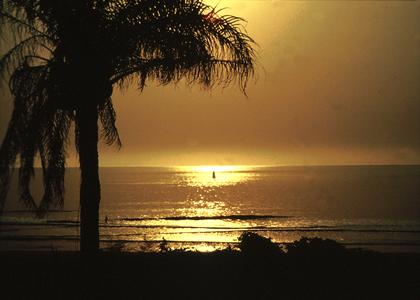 Sunset on the Beach at Kabrousse in Casamance